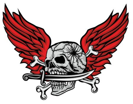 Gothic sign with skull, grunge vintage design t shirts Stok Fotoğraf - 133385541