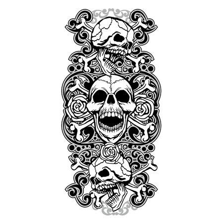 Gothic sign with skull, grunge vintage design t shirts Stok Fotoğraf - 133385557