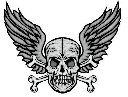 Gothic sign with skull, grunge vintage design t shirts Stok Fotoğraf - 133385586