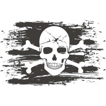 Gothic sign with skull, grunge vintage design t shirts 일러스트