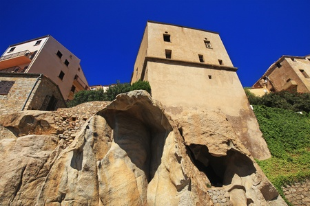 The Cittadella in Calvì Standard-Bild