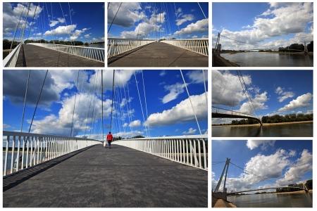 modaic of modern bridge in croatia  Stock Photo - 8610532