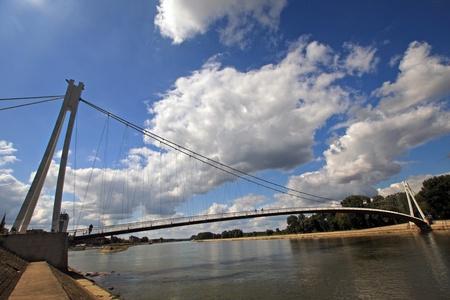 modern bridge in croatia  photo