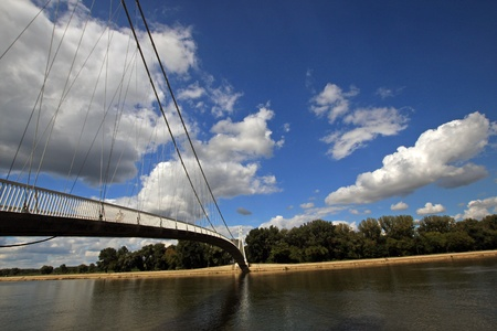 modern bridge in croatia Stock Photo - 8610479