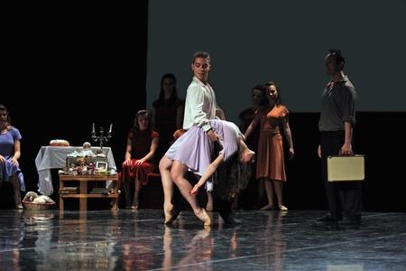 TURIN, ITALY - JANUARY 25, 2011: dancers of Salvino Aiosas Ballet Company perform The diary of Anna Frank