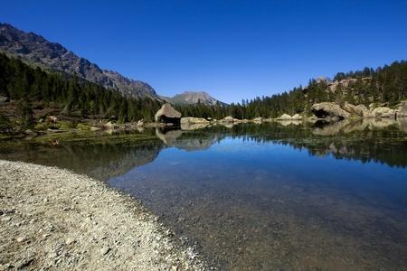 lake of Serva, In Mont Avic park, Italy