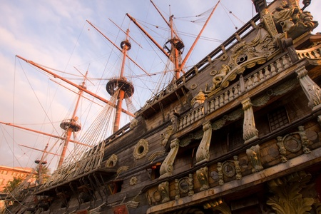 Galleon of Neptune in the harbor of Genoa