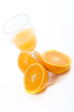 di frutta d'arancia e succo d'arancia