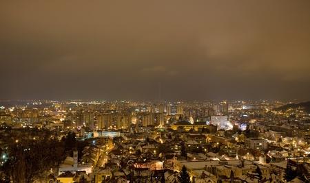 Citt� di Sibiu nella notte, Romania