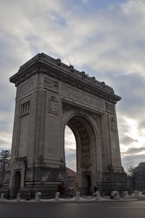 triumph arch, Bucharest Stock Photo