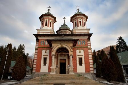transylvania: ancient monastery near Sibiu, Transylvania