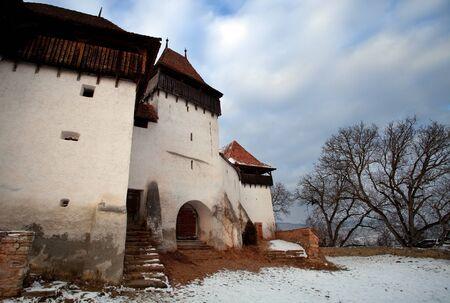 transylvania: Ancient monastery near Sighisoara, Romania Stock Photo
