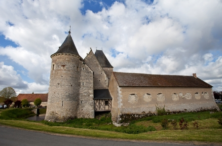 medioeval: castle in Loire, France  Editorial