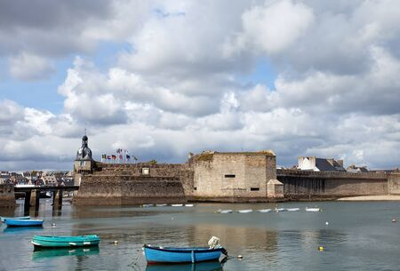 medioeval: Harbor of Concarneau, France  Stock Photo