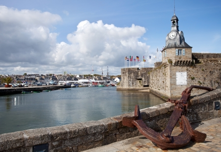 Anchor of old Concarneau, France