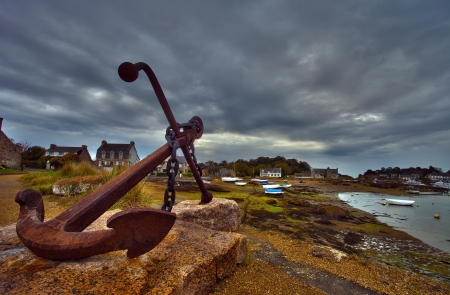 anchor near Perros Guirec, France
