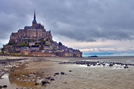 Mont Saint Michel, France  Standard-Bild