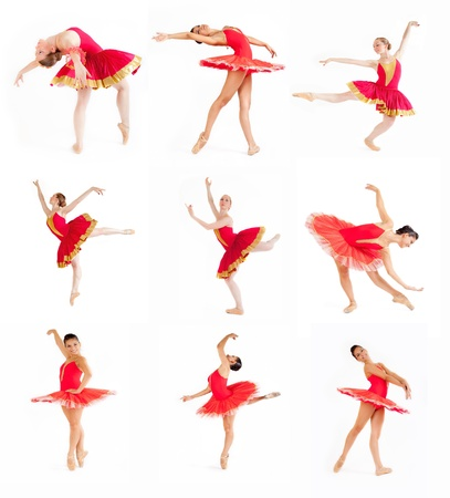 collage of classic dancers in white background