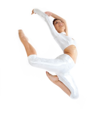 modern dancer in white background Stock Photo