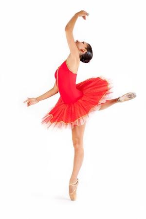 ballerina classica a sfondo bianco