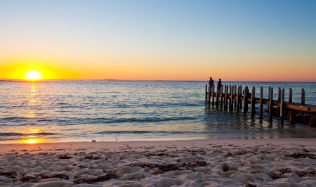 perth: Sunset in Margaret river, Western Australia Stock Photo