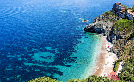 Beach of Portoferraio, Elba Island, Italy