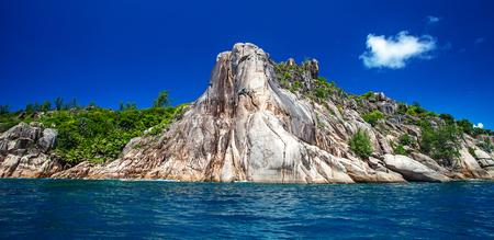 Island two sisters, La Digue, Seychelles Banco de Imagens