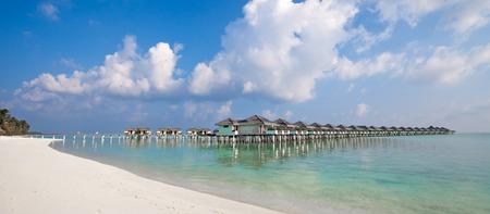 Water bungalows at Maldives Editorial