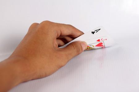 hand opening blackjack photo