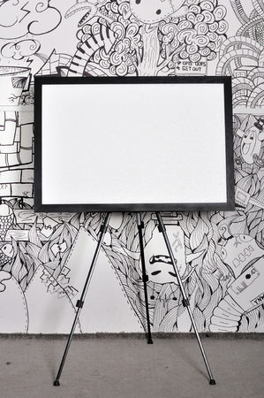 blank frame with creative background photo