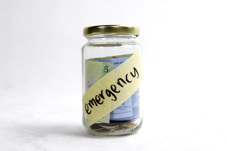 pension cuts: money in the jar for emergency