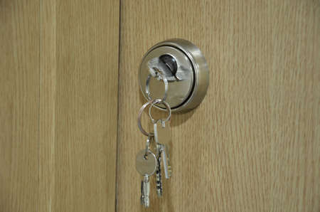 Mortise door lock with keys photo