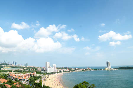Landscape scenery view of a seaside during daytime Stock Photo