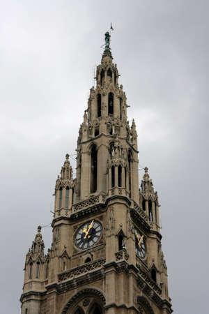 Rathaus. Tower of city hall. Vienna Austria Stock Photo - 6023733