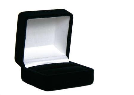 Open box isolated on white background photo