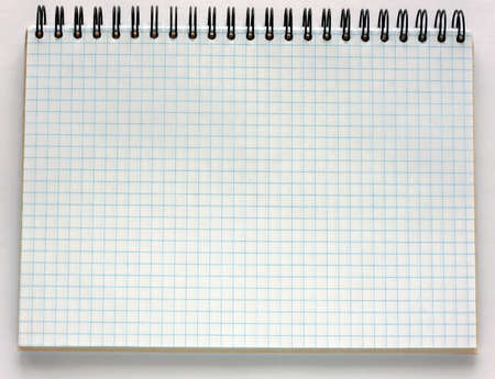 Clean sheet in cell spiral notebook
