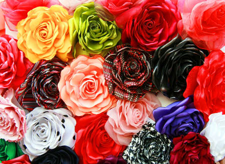 Roses of cloth of different colors Stock Photo - 12008960