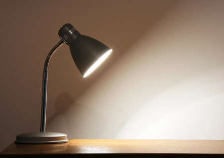 Lighting lamp. Empty space for your text or object. photo