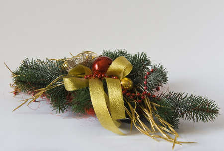 Christmas Decoration Holiday Decorations on light background photo