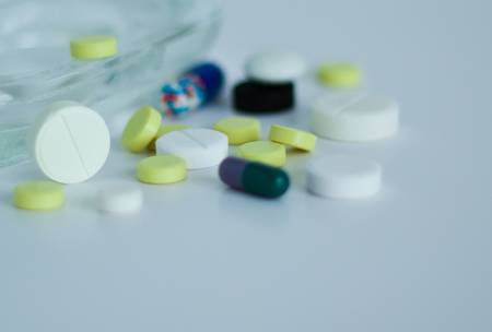 Pills, tablets and vitamins. Shallow depth of field. Stock Photo - 17622183