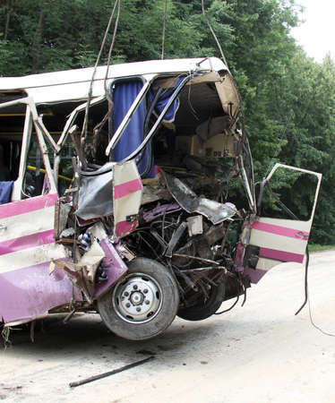 Scene of bus crash where tourists were died photo