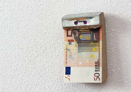 Tear-off calendar consisting of banknotes