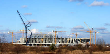 lviv: Construction of the stadium in the Ukrainian city of Lviv to the UEFA Euro Cup - 2012