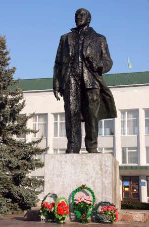 lenin: Monument to Lenin in the Ukrainian town of Manevichi