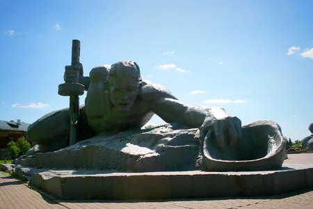 brest: Thirst sculptural group in Memorial complex Brest Hero Fortress