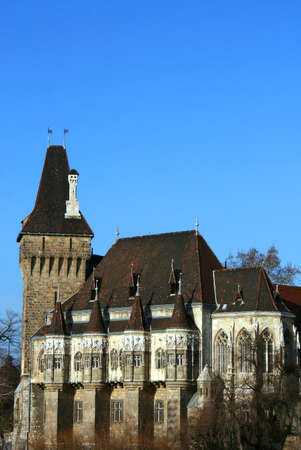 The Vajdahunyad castle, Budapest main city park Редакционное