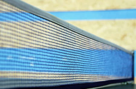 ping pong: Net for ping pong. Shallow depth of field.