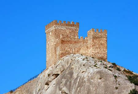 sudak: Ancient consular castle. Genoese fortress. Crimea. Sudak