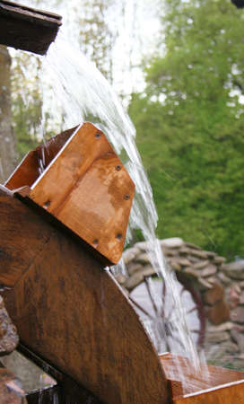 water mill: Wooden wheel of an ancient water mill