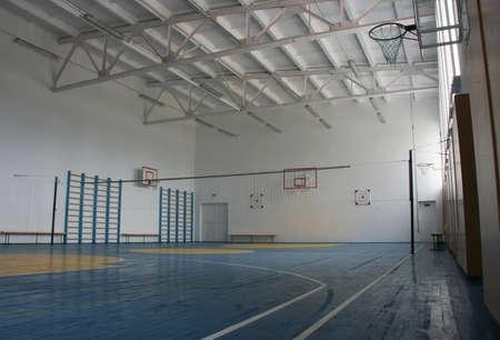 school gym: Basketball court, school gym indoor